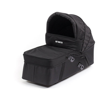 Baby Monsters Easy Twin Side Carrycot Black