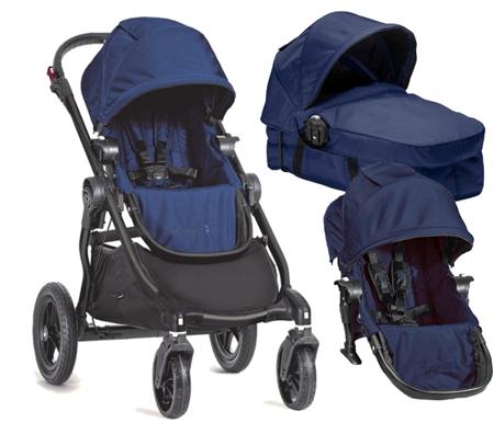 Baby Jogger City Select Plus Bassinet Kit Plus Second Seat ...