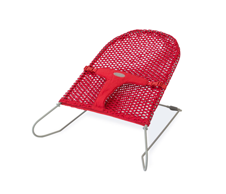 Babyhood Mesh Bouncinette Red
