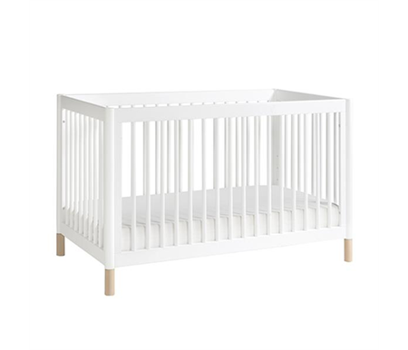 Babyletto Gelato Convertible Cot White & Washed Natural Feet