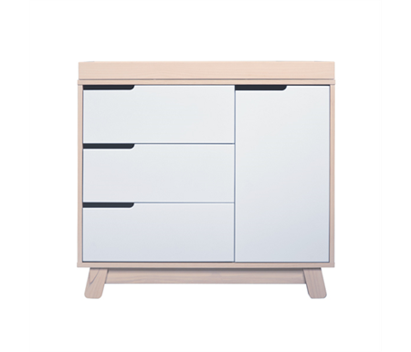 Babyletto Hudson Changer-Dresser Washed Natural + White Drawers