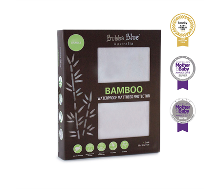 Bubba Blue Bamboo Mattress Protector Cradle