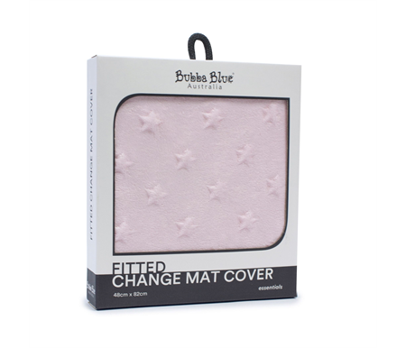 Bubba Blue Essentials Sherpa Change Mat Cover Pink