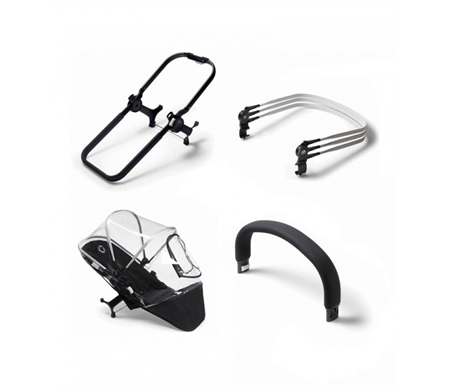 Bugaboo Donkey2 Duo Extension Black Chassis