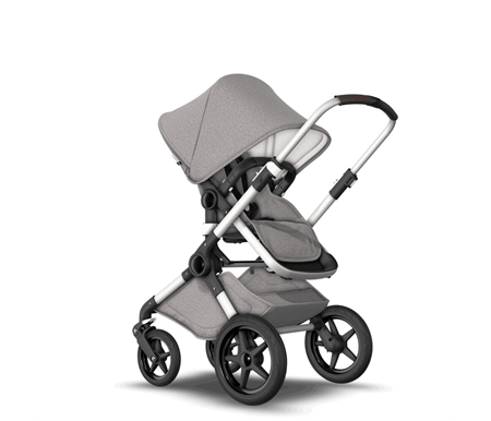 Bugaboo Fox Aluminium Frame with Mineral Light Grey Style Set