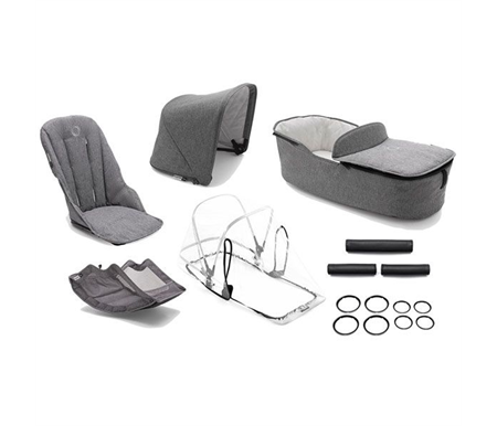 Bugaboo Fox Classic Style Set Complete Grey Melange