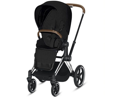 Cybex Priam 2020 Chrome with Brown - Stardust Black Plus Complete