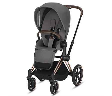Cybex Priam 2020 Rose Gold - Manhattan Grey Plus Complete