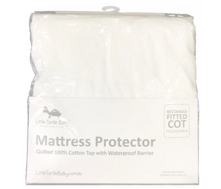 Little Turtle Baby Fitted Cot Fitted Mattress Protector Large Rectangle