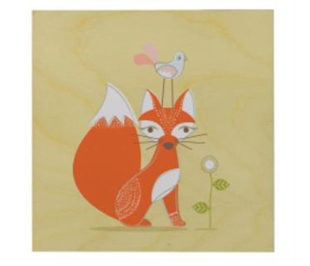 Lolli Living Scarlet Wall Plaque Fox