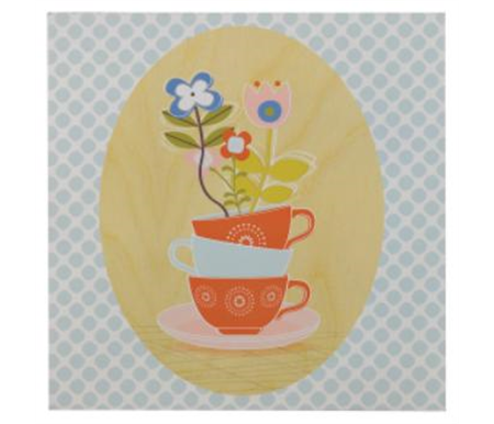 Lolli Living Scarlet Wall Plaque Teacup