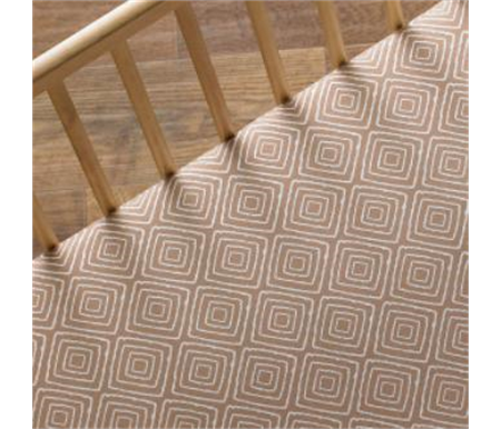 Lolli Living Zig Zag Zoo Fitted Sheet Taupe Maze