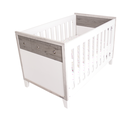 Love N Care Brooklyn Cot - White + Ash