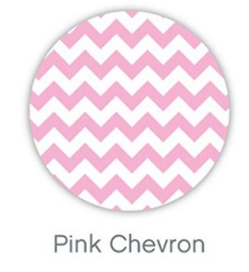 Outlook Cotton Pram Liner Pink Chevron