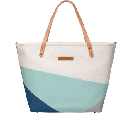 Petunia Pickle Bottom Downtown Tote Birch/Fjord
