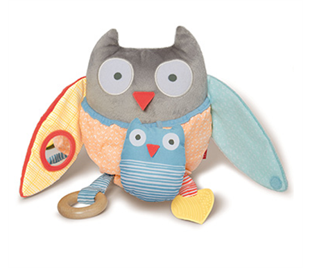Skip Hop Tree Top Friends Owl Activity Toy Grey Pastel