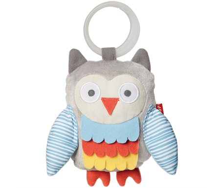 Skip Hop Treetop Friends Wise Owl Stroller Toy Grey Pastel