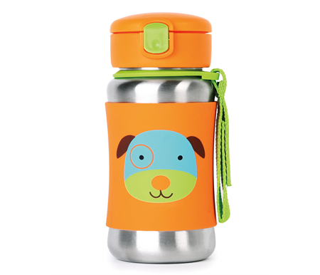 Skip Hop Zoo Stainless Straw Bottle Dog