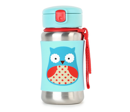 Skip Hop Zoo Stainless Straw Bottle Owl