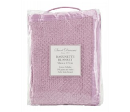 Sweet Dreams Bassinette Cotton Cellular Blanket