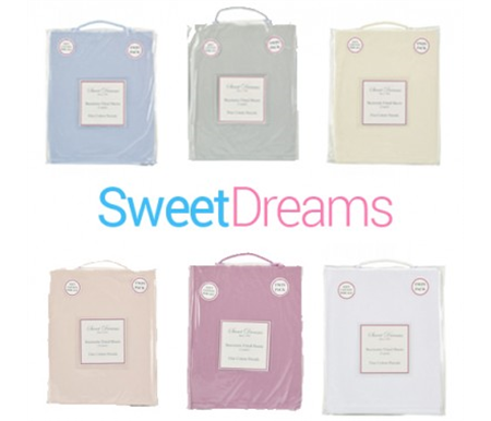 Sweet Dreams Bassinette Fitted Sheets 2pk