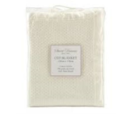 Sweet Dreams Cot Cotton Cellular Blanket