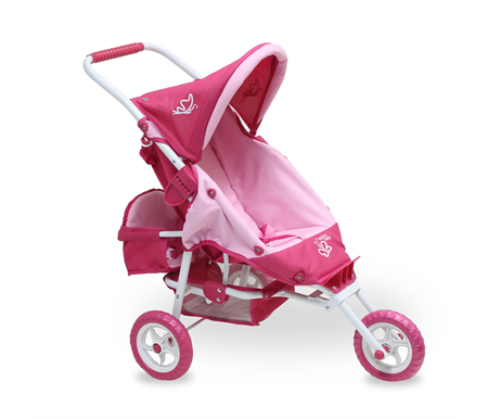 Valco Baby Mini Marathon With Toddler Seat Doll Stroller Butterfly Pink