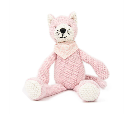 Weegoamigo Pearl Knit Toy Kitty